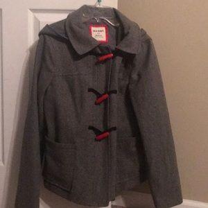 Women's gray wool coat